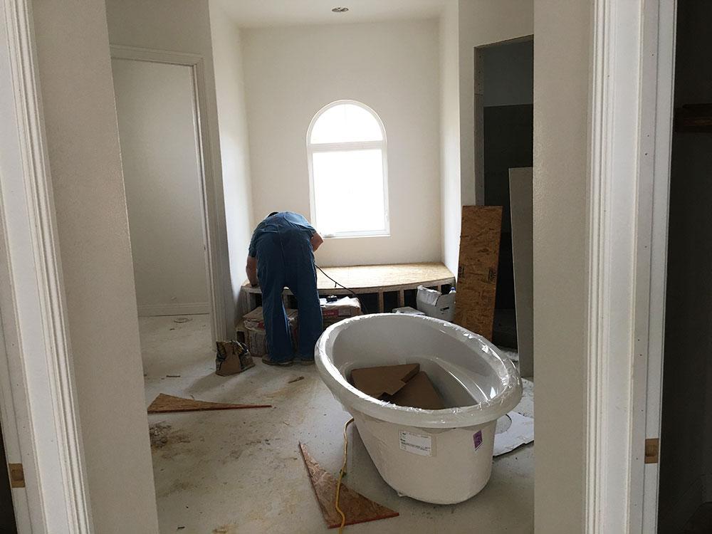 Custom home temecula bath install for Bath remodel temecula